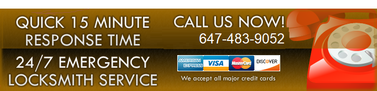 Quick 15 minute response time! 24/7 emergency locksmith service! call:647-483-4042
